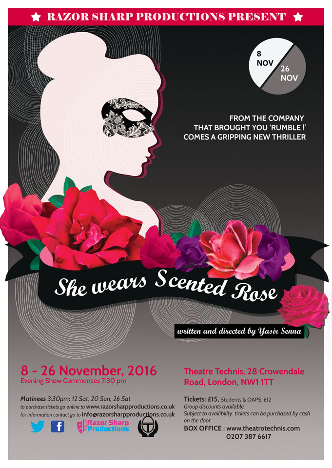 She wears Scented Rose 2017 poster